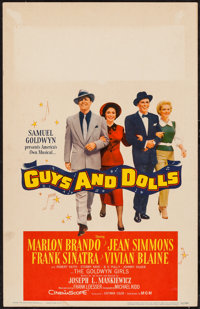 "Guys and Dolls (MGM, 1955). Window Card (14"" X 22""). Musical"