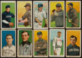 """Baseball Cards:Lots, 1909-11 T206 White Border Collection (10) - All """"Old Mill"""" Backs! ..."""