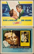 """Movie Posters:Drama, Middle of the Night & Other Lot (Columbia, 1959). Half Sheets (2) (22"""" X 28"""") Style A & B. Drama.. ... (Total: 2 Items)"""