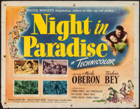 "A Night in Paradise (Universal, 1946). Half Sheet (22"" X 28""). Comedy"