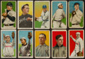Baseball Cards:Lots, 1909-11 T206 White Border Collection (10) With HoFers & Factory 42 Overprint. ...