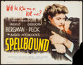 """Movie Posters:Hitchcock, Spellbound (Eagle Lion, R-1949). Half Sheet (22"""" X 28"""").Hitchcock.. ..."""