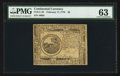 Colonial Notes:Continental Congress Issues, Continental Currency February 17, 1776 $6 PMG Choice Uncirculated63.. ...