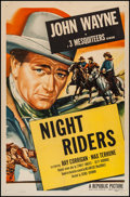 "Movie Posters:Western, The Night Riders (Republic, R-1953). One Sheet (27"" X 41""). Western.. ..."