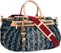 "Luxury Accessories:Bags, Louis Vuitton Limited Edition Monogram Denim Cabas Raye Bag.Excellent Condition. 18"" Width x 12"" Height x 6.5""Depth..."