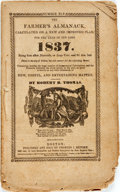 Books:Americana & American History, [Almanac]. Robert B. Thomas. The Farmer's Almanack, Calculatedon a New and Improved Plan, for the Year of Our Lord, 183...