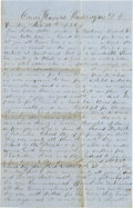 Miscellaneous:Ephemera, [Abraham Lincoln and the Black Regiments]. William H. ClarkAutograph Letter Signed....