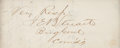 "Autographs:Military Figures, [Civil War]. James Ewell Brown ""JEB"" Stuart Clipped Signature...."