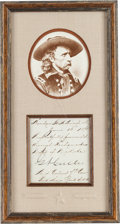 Autographs:Military Figures, George A. Custer Endorsement Signed...