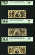 Fractional Currency:Third Issue, Fr. 1328; 1331; and 1332 50¢ Spinners PCGS Graded.. ... (Total: 3 notes)