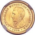 Commemorative Gold, 1904 G$1 Lewis and Clark MS66+ NGC. CAC....