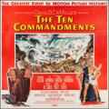 "Movie Posters:Drama, The Ten Commandments (Paramount, 1956). Six Sheet (84"" X 84""). Drama.. ..."