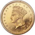 Proof Gold Dollars, 1856 G$1 Slanted 5 PR66+ Deep Cameo PCGS....