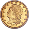 Early Quarter Eagles, 1831 $2 1/2 MS63 NGC. BD-1, R.4....