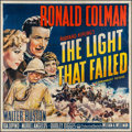 "Movie Posters:Drama, The Light That Failed (Paramount, 1939). Six Sheet (78"" X 79"").Drama.. ..."
