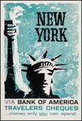"Movie Posters:Miscellaneous, New York (Bank of America, 1950s). Travel Poster (28"" X 41.5"").Miscellaneous.. ..."