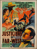"Movie Posters:Serial, The Lone Ranger (RAC, 1938). French Grande (46.5"" X 62.5"") Chapter3 --""Pitfall."" Serial.. ..."