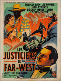 """The Lone Ranger (RAC, 1938). French Grande (46.5"""" X 62.5"""") Chapter 3 --""""Pitfall."""" Serial"""