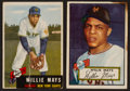 Baseball Cards:Lots, 1952 and 1953 Topps Willie Mays Card Pair (2). ...