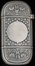 Silver Smalls:Match Safes, A WOOD & HUGHES SILVER MATCH SAFE, New York, New York, circa1900. Marks: W & H, STERLING, 23. 2-1/2 inches high (6.4cm...