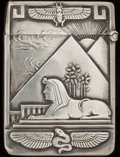 Silver Smalls:Match Safes, AN AMERICAN SILVER MATCH SAFE, circa 1910. 2-3/8 inches high (6.0cm). 1.00 troy ounce. From the Estate of John O. Antonel...