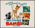 "Movie Posters:Animation, Bambi (Buena Vista, R-1975). Half Sheet (22"" X 28""). Animation....."