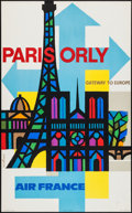 """Movie Posters:Miscellaneous, Air France: Paris Orly Gateway to Europe Travel Poster (1960s).Travel Poster (24.5"""" X 39""""). Miscellaneous.. ..."""