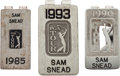 Golf Collectibles:Medals/Jewelry, Three PGA Tour Money Clips Issued To Sam Snead....
