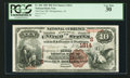 National Bank Notes:Alabama, Montgomery, AL - $10 1882 Brown Back Fr. 484 The First NB Ch. # (S)1814. ...