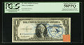 Error Notes:Obstruction Errors, Fr. 1614 $1 1935E Silver Certificate. PCGS Choice About New 58PPQ.....