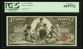 Large Size:Silver Certificates, Fr. 248 $2 1896 Silver Certificate PCGS Gem New 66PPQ.. ...