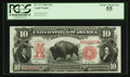 Large Size:Legal Tender Notes, Fr. 117 $10 1901 Legal Tender PCGS Choice About New 55.. ...