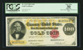 Large Size:Gold Certificates, Fr. 1214 $100 1882 Gold Certificate PCGS Apparent Very Fine 30.....