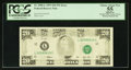 Error Notes:Missing Magnetic Ink, Fr. 2080-L $20 1993 Federal Reserve Note. PCGS Apparent ChoiceAbout New 55.. ...