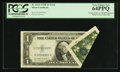 Error Notes:Foldovers, Fr. 1614 $1 1935E Silver Certificate. PCGS Very Choice New 64PPQ.....