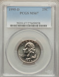 Washington Quarters: , 1995-D 25C MS67 PCGS. PCGS Population (42/0). NGC Census: (34/2). Numismedia Wsl. Price for problem free NGC/PCGS coin in ...