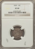 Bust Dimes: , 1829 10C Small 10C XF40 NGC. NGC Census: (9/248). PCGS Population(22/219). Mintage: 770,000. Numismedia Wsl. Price for pro...