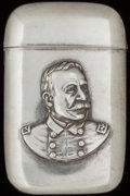 Silver Smalls:Match Safes, AN AMERICAN SILVER MATCH SAFE: ADMIRAL DEWEY, circa 1900. Marks:STERLING. 2-3/8 inches high (6.0 cm). 1.00 troy ounce. ...