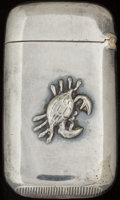 Silver Smalls:Match Safes, AN AMERICAN SILVER AND SILVER GILT MATCH SAFE, circa 1900. Marks:P SILVER. 2-1/4 inches high (5.7 cm). 0.72 troy ounce...
