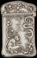 Silver Smalls:Match Safes, A LA PIERRE SILVER AND SILVER GILT MATCH SAFE, Newark, New Jersey,circa 1900. Marks: L, STERLING, 211. 2-1/2 inches hig...