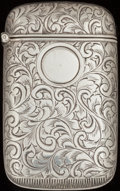 Silver Smalls:Match Safes, A WILLIAM HAYDEN CO. SILVER TRICK MATCH SAFE, Newark, New Jersey,circa 1890. Marks: WHW (interlaced), STERLING, 201,...