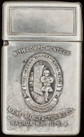Silver Smalls:Match Safes, A WHITEHEAD & HOAG METAL ADVERTISEMENT MATCH SAFE, Newark, NewJersey, circa 1900. 2-3/4 inches high (7.0 cm). FROM THE ES...