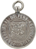 Golf Collectibles:Miscellaneous, 1933 Silver Captain's Badge Of Ted Ray In England vs. Scotland Match....
