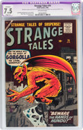 Silver Age (1956-1969):Horror, Strange Tales #74 (Marvel, 1960) CGC Apparent VF- 7.5 Slight (A)Off-white pages....
