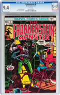 Bronze Age (1970-1979):Horror, Frankenstein #6 (Marvel, 1973) CGC NM 9.4 White pages....