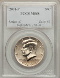 Kennedy Half Dollars, 2001-P 50C MS68 PCGS. PCGS Population (189/2). Numismedia Wsl.Price for problem free NGC/PCGS coin in ...