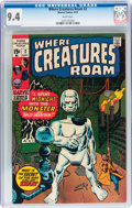 Bronze Age (1970-1979):Horror, Where Creatures Roam #2 (Marvel, 1970) CGC NM 9.4 White pages....