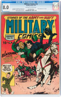 Golden Age (1938-1955):War, Military Comics #15 (Quality, 1943) CGC VF 8.0 Off-white to whitepages....