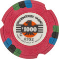 Miscellaneous:Gaming Chips, Las Vegas Casinos: $1000 Thunderbird Chip....