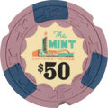 Miscellaneous:Gaming Chips, Las Vegas Casinos: $50 The Mint Chip....